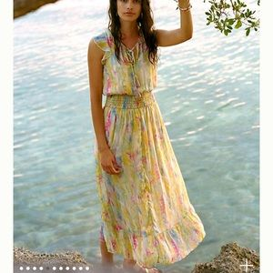 Anthropologie water color dress